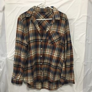 Aeropostale Button Down Flannel Size XL